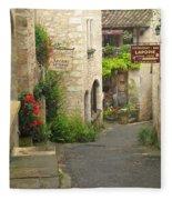 Quiet Lane In St Cirq I France Fleece Blanket
