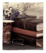 Quiet Reading Time Fleece Blanket