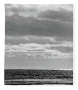 Quiet Shores After The Storm Fleece Blanket