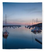 Quiet Solitude Rockport Harbor Fleece Blanket