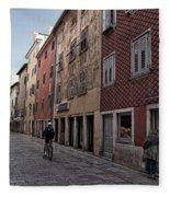 Quiet Street In Rovinj - Croatia Fleece Blanket