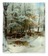 Quiet Winter Afternoon Fleece Blanket