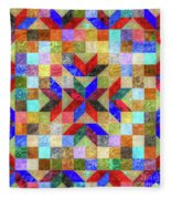 Quilt Pattern No. 1 Fleece Blanket