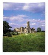 Quin Abbey, Quin, Co Clare, Ireland Fleece Blanket