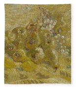 Quinces, Lemons Pears And Grapes Paris, September - October 1887 Vincent Van Gogh 1853  1890 Fleece Blanket