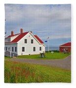 Quoddy Head Lighthouse Fleece Blanket