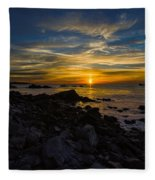 Quoddy Head State Park Sunrise Panorama Fleece Blanket