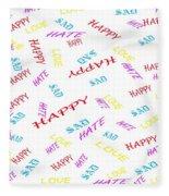 Quoted Emotions Fleece Blanket
