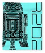 R2d2 - Star Wars Art - Blue Fleece Blanket