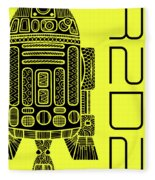 R2d2 - Star Wars Art - Yellow Fleece Blanket