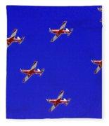 Raaf Roullettes Flying Across North Head Sydney Fleece Blanket