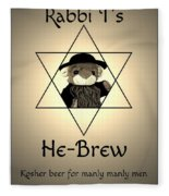 Rabbi T's He-brew Fleece Blanket