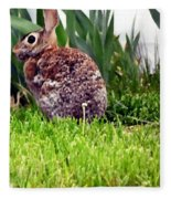 Rabbit As A Painting Fleece Blanket