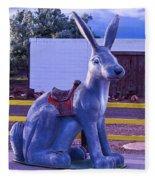 Rabbit Ride Route 66 Fleece Blanket