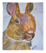 Rabbit Watercolor 15-01 Fleece Blanket