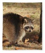 Raccoon #4 Fleece Blanket