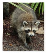 Raccoon Bandit Fleece Blanket