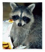 Raccoon1 Snack Bandit Fleece Blanket