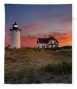 Race Point Light Sunset 2015 Fleece Blanket