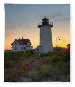 Race Point Lighthouse 2015 Fleece Blanket