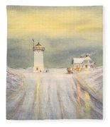 Race Point Lighthouse Provincetown Fleece Blanket