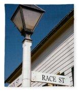 Race St Old Salem Fleece Blanket