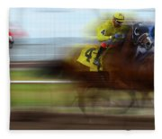 Racetrack Dreams 1 Fleece Blanket