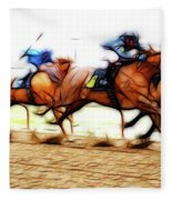 Racetrack Dreams 7 Fleece Blanket