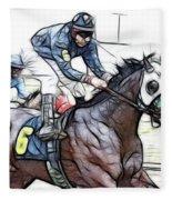 Racetrack Dreams 8 Fleece Blanket