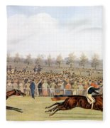 Racing Scene Fleece Blanket