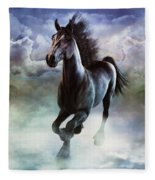 Racing The Storm Fleece Blanket