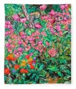 Radford Flower Garden Fleece Blanket