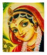 Radha - The Indian Love Goddess Fleece Blanket