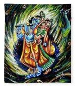 Radhe Krishna Fleece Blanket
