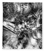 Radiance In Monochrome  Fleece Blanket
