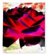 Radiant Red Rose Fleece Blanket