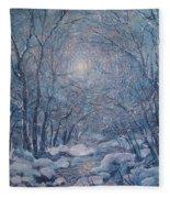 Radiant Snow Scene Fleece Blanket