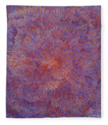 Radiation With Blue And Red  Fleece Blanket