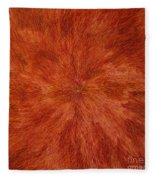 Radiation With Brown Yellow And Voilet Fleece Blanket
