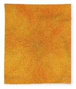Radiation With Gold  Red And Brown  Fleece Blanket