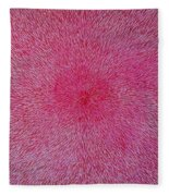 Radiation With Pink And Magenta  Fleece Blanket