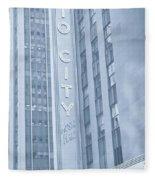 Radio City Cool Toned Fleece Blanket