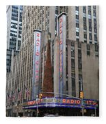 Radio City Music Hall New York City Fleece Blanket
