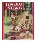 Radio News, 1926 Fleece Blanket