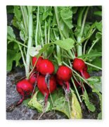 Radish Harvest Fleece Blanket