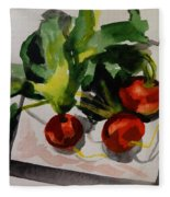 Radishes Fleece Blanket