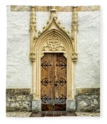 Radovljica Church Door Fleece Blanket