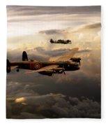 Raf Lancaster And Spitfire Fleece Blanket