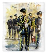 Raf Military Parade In York Fleece Blanket