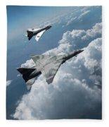 Raf Tsr.2 Advanced Bomber With Lightning Interceptor Fleece Blanket